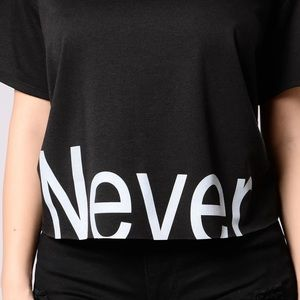 Never Again Tee - Black/Blue